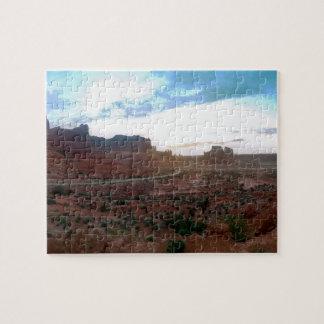 Punto de vista del parque nacional de los arcos puzzle