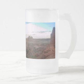 Punto de vista del parque nacional de los arcos taza de cristal