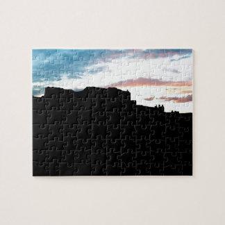Punto de vista Su de las montañas de la sal del La Puzzle