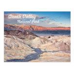 Punto de Zabriskie en Death Valley Tarjeta Postal