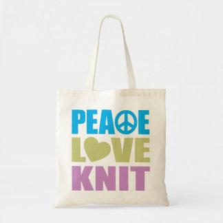 Punto del amor de la paz bolsa de mano