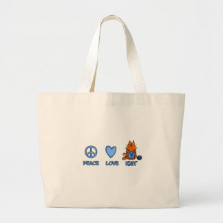punto del amor de la paz bolsa lienzo