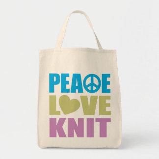 Punto del amor de la paz bolsas de mano