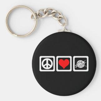 Punto del amor de la paz llavero