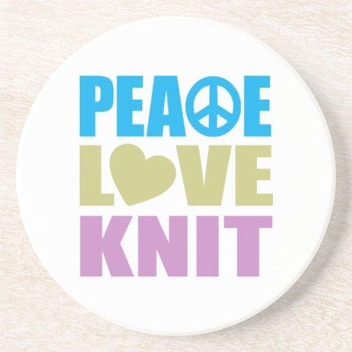 Punto del amor de la paz posavasos de arenisca