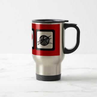 Punto del amor de la paz taza de café