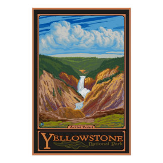 Punto del artista - parque nacional de Yellowstone Poster