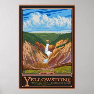 Punto del artista - parque nacional de Yellowstone Póster