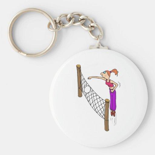Punto del chica del voleibol llavero