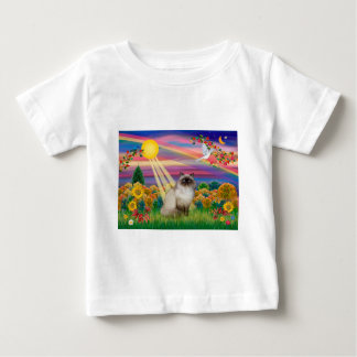 Punto del chocolate Himalayan - otoño Sun Tee Shirt