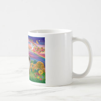Punto del chocolate Himalayan - otoño Sun Taza Básica Blanca