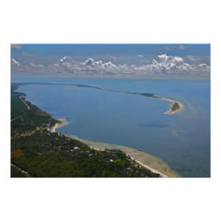 Punto del cocodrilo, fotografía aérea de la Florid Póster