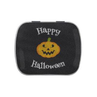 Punto del feliz Halloween Latas De Dulces