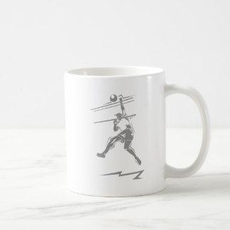 Punto del gris del voleibol taza de café