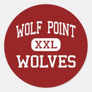 Punto del lobo - lobos - alto - punto Montana del Pegatina Redonda