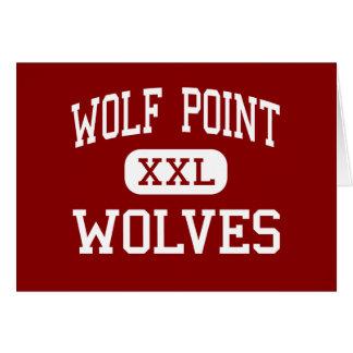 Punto del lobo - lobos - alto - punto Montana del  Tarjeta De Felicitación