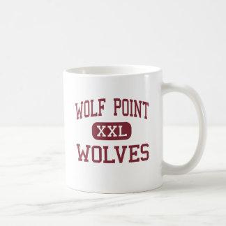 Punto del lobo - lobos - alto - punto Montana del  Taza Básica Blanca