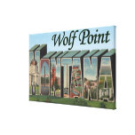 Punto del lobo, Montana Lienzo Envuelto Para Galerias