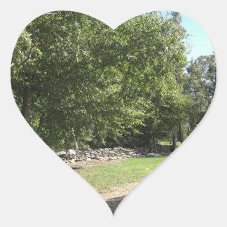 Punto del pináculo pegatina en forma de corazón