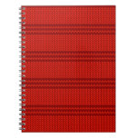 Punto del rojo cuaderno