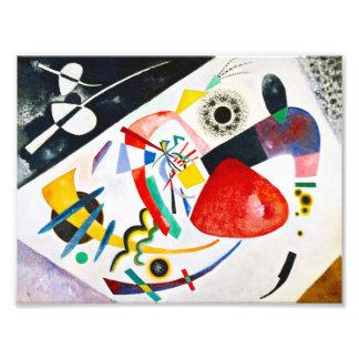 Punto del rojo de Kandinsky Impresión Fotográfica