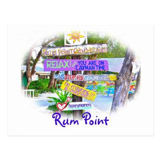 Punto del ron Gr Cayman postal colorida de la se