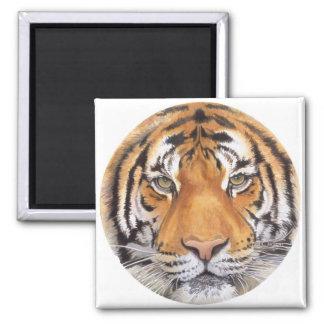 """""""Punto del tigre"""" en el blanco, arte de la acuarel Imán Para Frigorifico"""