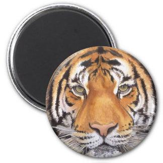 """""""Punto del tigre"""" en el blanco, arte de la acuarel Imanes Para Frigoríficos"""