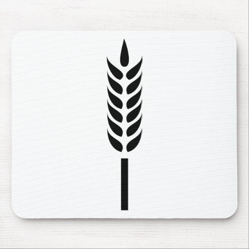 punto del trigo del cereal tapetes de raton