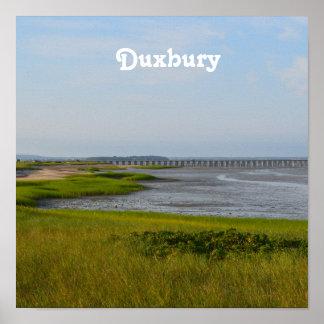 Punto Duxbury del polvo Póster