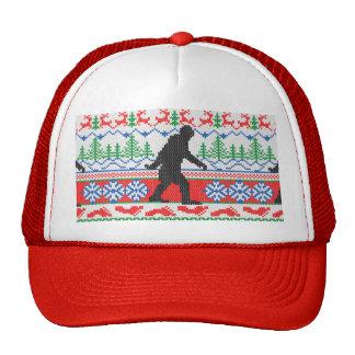 Punto feo ido festivo del suéter del navidad de gorras