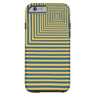 Punto focal de la meditación de la hipnosis azul y funda resistente iPhone 6