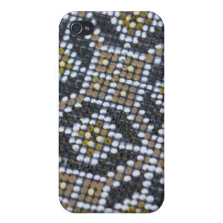 Punto geométrico pintado pern iPhone 4 carcasas