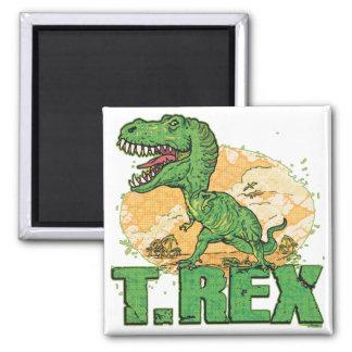 Punto grande de T Rex Imán Cuadrado