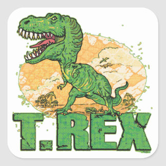 Punto grande de T Rex Pegatina Cuadrada