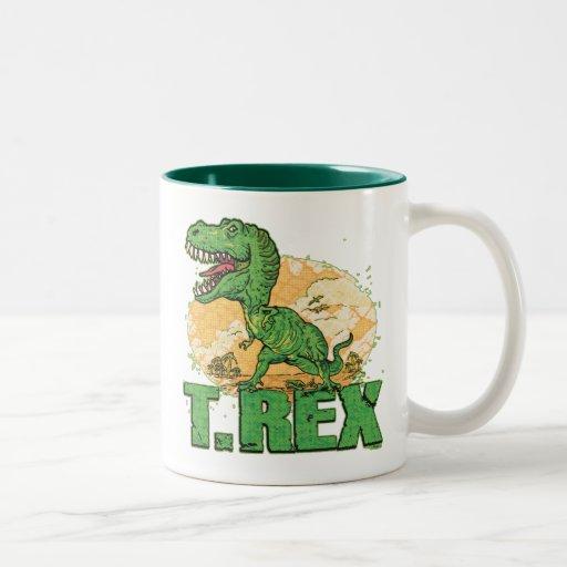 Punto grande de T Rex Tazas De Café