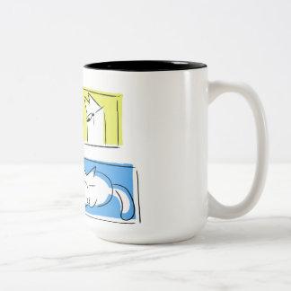 Punto in cornice Two-Tone coffee mug