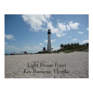 Punto Key Biscayne de la casa ligera Tarjetas Postales