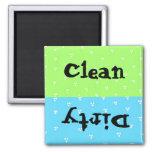 Punto limpio y sucio imanes