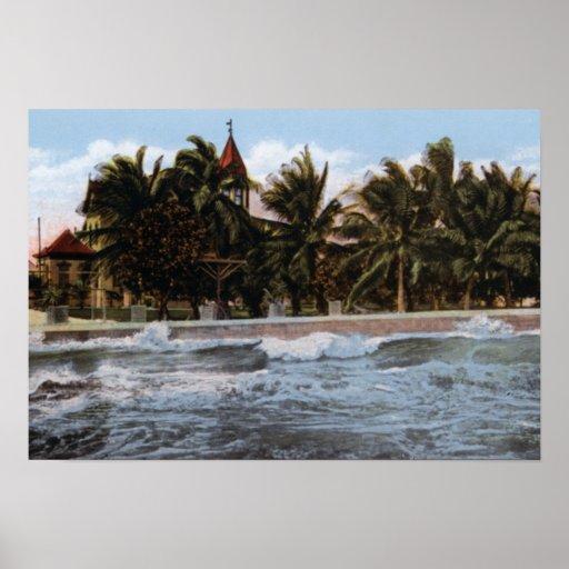 Punto meridional de Key West la Florida Impresiones