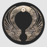 Punto Omega - pegatina redondo del logotipo