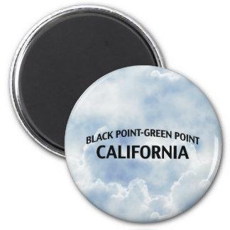 Punto Punto-Verde negro California Imán Redondo 5 Cm