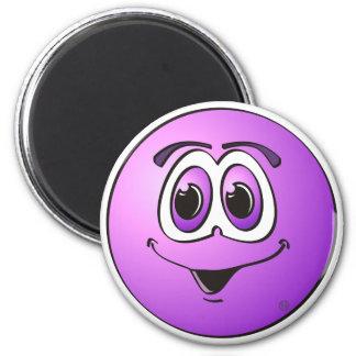 Punto púrpura imán redondo 5 cm