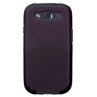 Punto púrpura oscuro de la textura galaxy s3 fundas