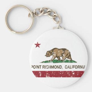 Punto Richmond de la bandera de la república de Ca Llaveros Personalizados