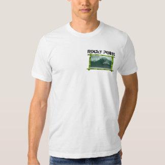 Punto rocoso, orilla del norte, Oahu, Hawaii Camisas