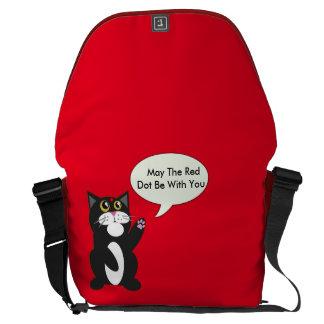 Punto rojo bolsa de mensajería