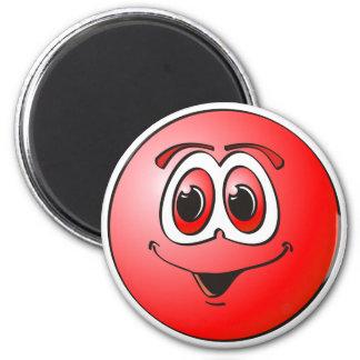 Punto rojo imán redondo 5 cm