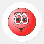Punto rojo pegatina redonda