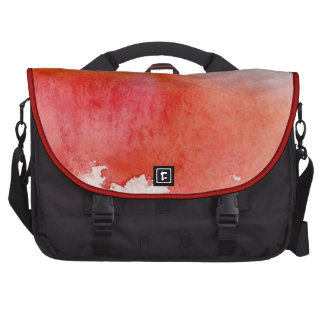 Punto rojo, pintado a mano abstracto de la acuarel bolsas para ordenador